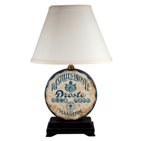 Vintage Droste Candy Tin Lamp