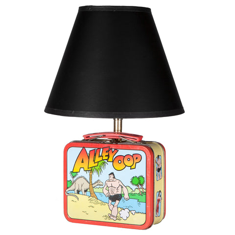 Vintage Small Alley Oop Lunchbox Lamp