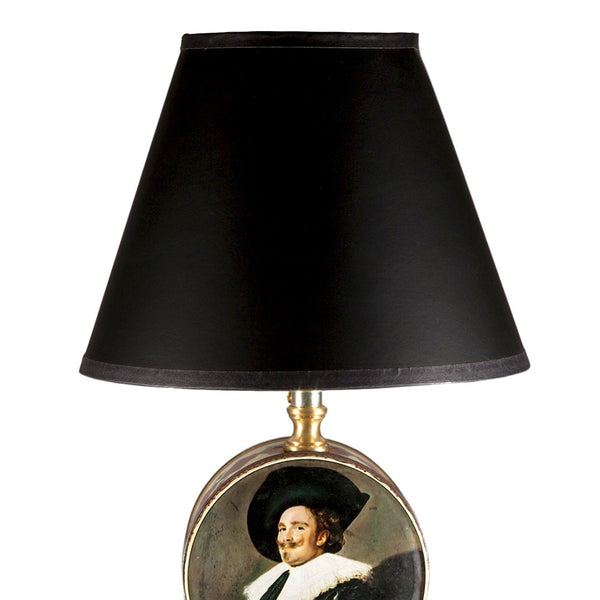 Vintage Small Dutch Portrait Tin Lamp