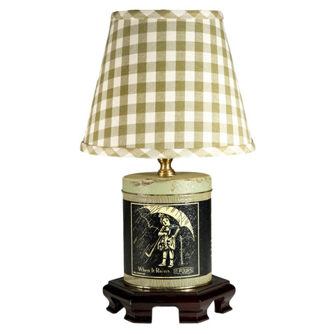 Blue Morton Salt Kitchen Lamp