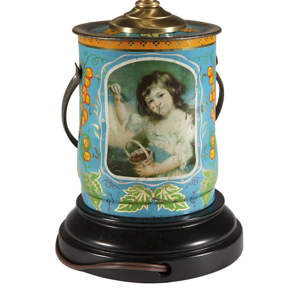 Vintage Portrait Tea Caddy Lamp