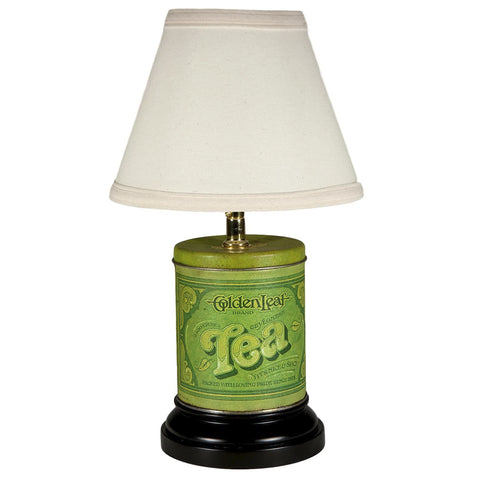 Vintage Green Tea Caddy Kitchen Lamp