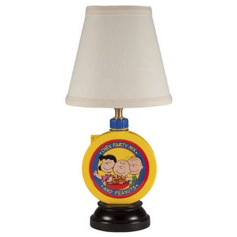 Vintage Peanuts & Chex Party Mix Kitchen Lamp