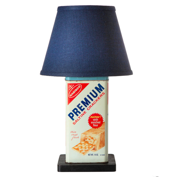Vintage Nabisco Saltine Cracker Tin Up-cycled Lamp