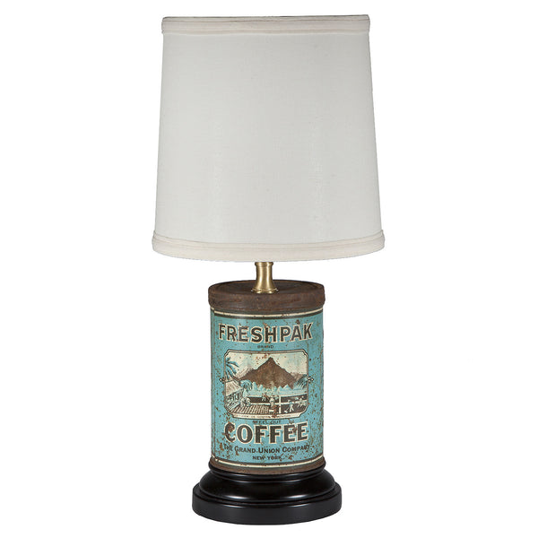 Vintage Blue Coffee Can Kitchen Lamp
