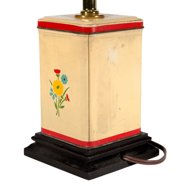 Vintage Sweet Small Floral Caddy Lamp