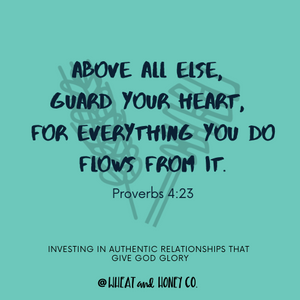 Wheat and Honey Co- Bible Verse, Bible Quote