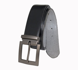 Style 014195- Men's 35mm Reversible Strap with Removable Gun Metal Harness Buckle