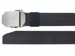 Style 014199- Men's 38mm Adjustable Nylon Strap with Brushed Nickel Clamp on Buckle