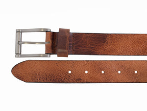Style 10336- 35mm Heavyweight Glazed Buffalo Leather Belt