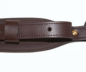Grizzly Leather Padded Cobra Sling with Buck Emboss
