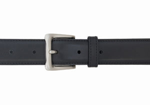 Style 2845 - 30mm Bonded Leather Belt with a Satin Nickel Buckle