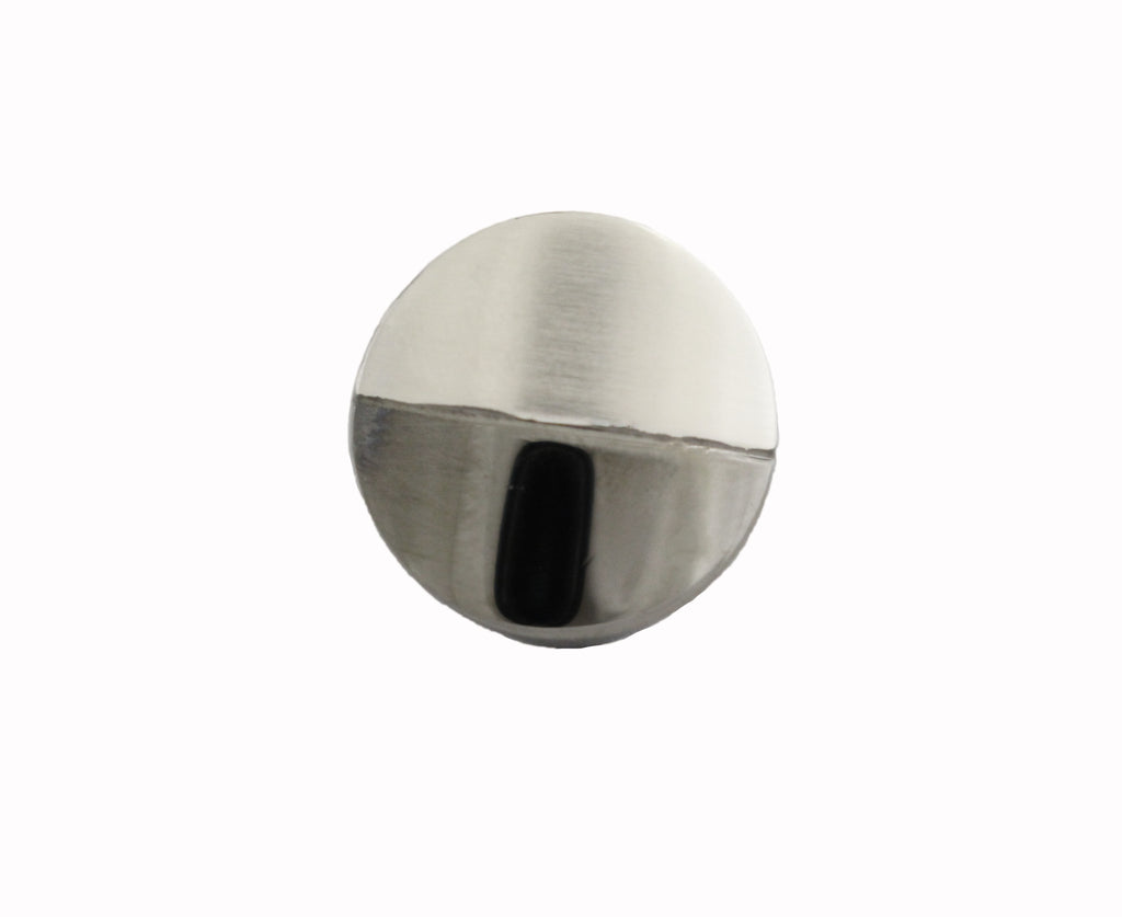Style 3811-7784: Round Indented Circle Cuff Link