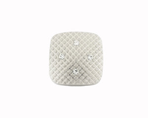 Style 3813-77: Soft Square with Crystals Cuff Link