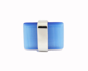 Style 3814-14: Center Wrapped Blue Cuff Link