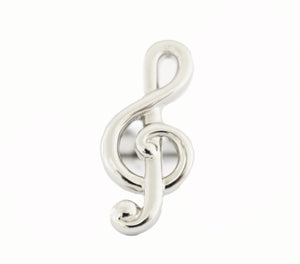 Style 3817-00: Treble Clef shaped Cuff Links