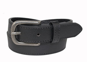 Style 515 - 25mm Boys Pebble Glazed Leather Belt