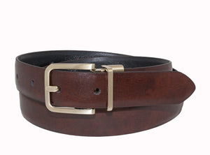 Style 517 - 25mm Boys Marble Glazed Leather Reversible Belt