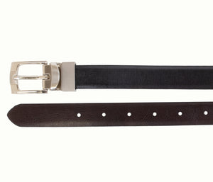 Style 518 - 25mm Boys Printed Glazed Leather Reversible Belt