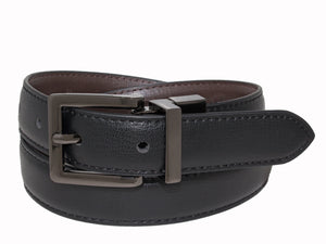 Style 520 - 25mm Boys Grained Glazed Leather Reversible Belt