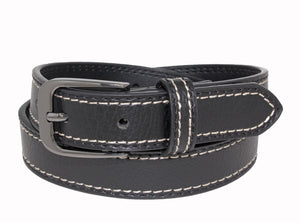 Style 524 - 25mm Boys Grained Glazed Leather Belt