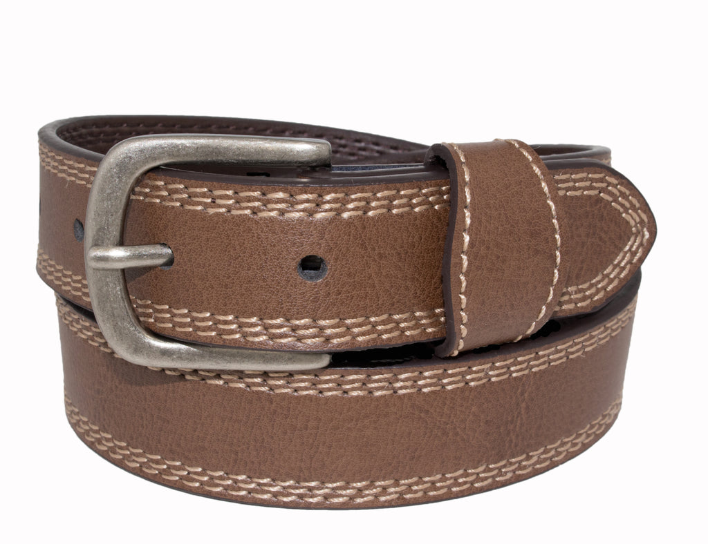 Style 525- 25mm Boys Grained Glazed Leather Belt