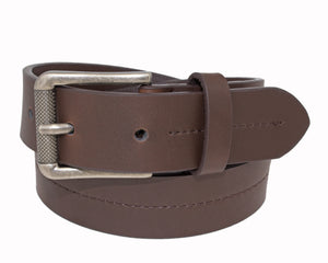 Style 526- 25mm Boys Grained Glazed Leather Belt