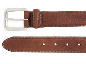 Heavy weight Italian leather with contrast stitch