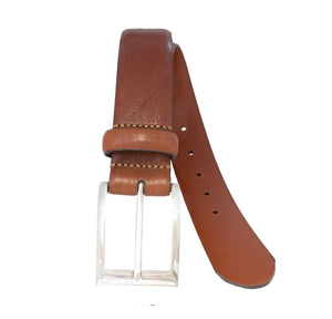 Full-grain Italian leather belt