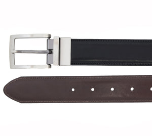 Italian full-grain leather reversible belt