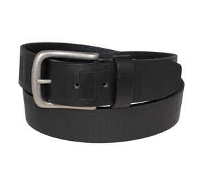 Center Emboss Italian Full-Grain Leather Belt