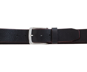 Polished Shrunken Italian Full-Grain Leather Belt