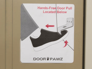 Grizzly Door Pawz Touchfree Door Opener - Flange Down