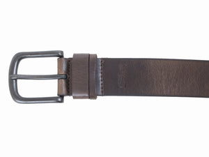 Men's Silver Jeans Belt - Style S302  : 38MM Split Loop Genuine Leather Belt
