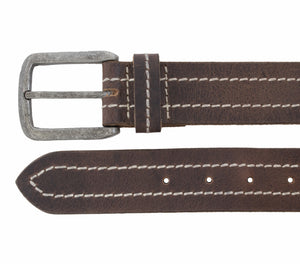 Silver Jeans Belt - Style S313  : 38MM Men's Vintage Look Genuine Leather Belt