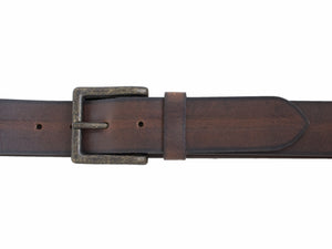 Men's Silver Jeans Belt - Style S315  : 38MM Distressed Genuine Leather