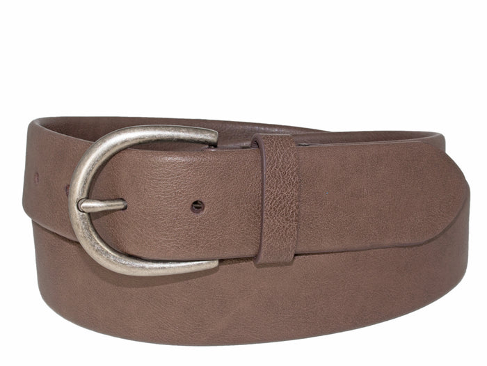 Woman's Silver Jeans Belt - Style S501  : 35MM Flexible Fit Stretch Belt