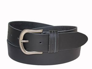 Silver Jeans Belt - Style S502  : 35MM Woman's Genuine Leather Belt With Triple Loop Detail And Antique Nickel Finish Buckle