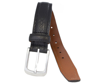 Padded and Stitched Hand Stained Italian Full Grain Leather Belt