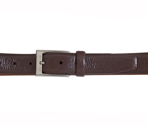 Feather Edge Pebble Grain Italian Leather Belt