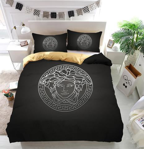 Luxury Versace Logo Custom Bedding Set (Duvet Cover & Pillowcases)
