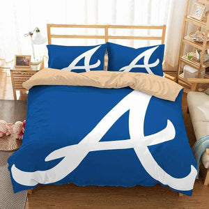 3D CUSTOMIZE ATLANTA BRAVES BEDDING SET DUVET COVER #2