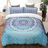 Blue Mandala Custom Bedding Set (Duvet Cover & Pillowcases)
