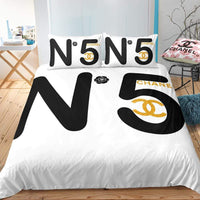 CC5 Coco Chanel Custom Bedding Set (Duvet Cover & Pillowcases)