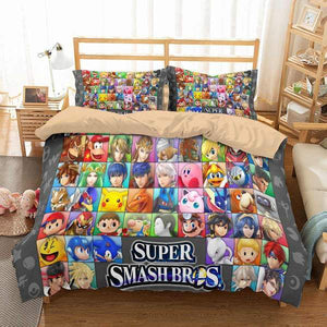 3D CUSTOMIZE SUPER SMASH BROS ULTIMATE BEDDING SET DUVET