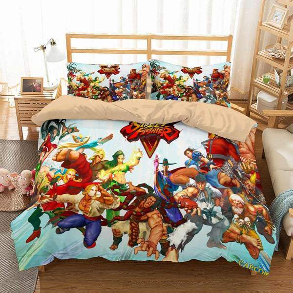 3D CUSTOMIZE STREET FIGHTER V BEDDING SET DUVET COVER