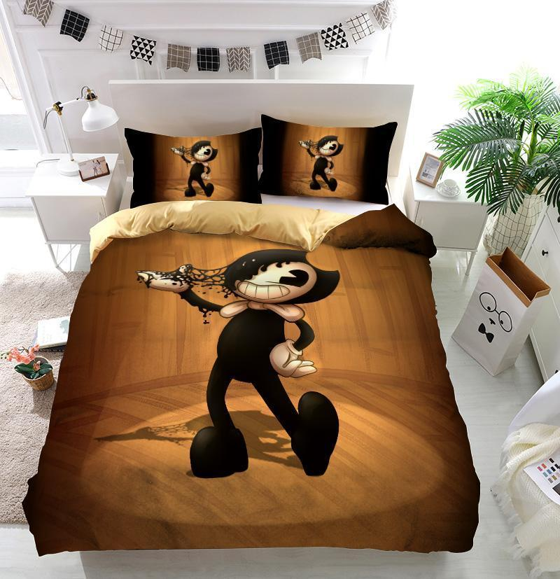 Bendy And The Ink Machine Custom Bedding Set Duvet Cover