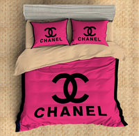 Chanel Inspired Custom Bedding Set Duvet Cover #5