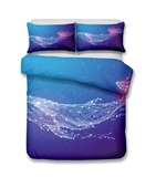 3D Bedding Set Whale Print Duvet cover set lifelike bedclothes with pillowcase bed set home