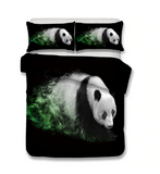 3D Bedding Set panda Print Duvet cover set lifelike bedclothes with pillowcase bed set home